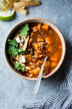 Smoky Sweet Potato & Lentil Tortilla Soup {gluten-free, vegan} – The Bojon Gourmet