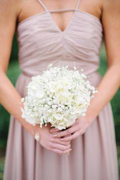 Baby's breath and hydrangea: http://www.stylemepretty.com/little-black-book-blog/2015/05/20/elegant-summer-wedding-at-cypress-grove-estate-house/   Photography: Best Photo - http://joshandrachelbest.com/