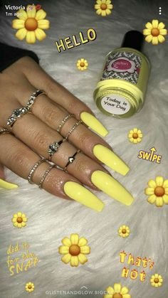 21 Super Cute Nails You Have to Try – Healthick Aycrlic Nails, Neon Nails, Yellow Nails, Nails 2016, Summer Acrylic Nails, Best Acrylic Nails, Summer Nails, Gorgeous Nails, Pretty Nails
