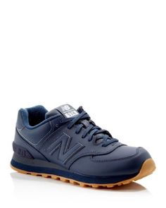 New Balance 574 Leather Lace Up Sneakers | Bloomingdale's