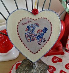 Valentine for Carol, Old Glory Cottage, 2013 (back) Valentine Day Love, Valentine Crafts, Old Glory, Valentines Day Decorations, Decorative Plates, Cottage, Color Red, Party, Colour Red