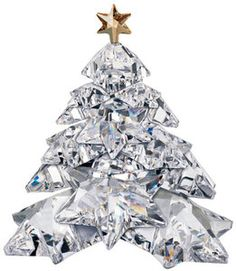 Swarovski Christmas Tree Shining Star The Christmas Tree is a clear piece and is adorned with a gold star as a traditional decoration. Jewelry Christmas Tree, Jewelry Tree, Christmas Colors, Christmas Tree Decorations, Christmas Tree Ornaments, Christmas Things, Xmas Tree, Christmas Christmas, Swarovski Crystal Figurines