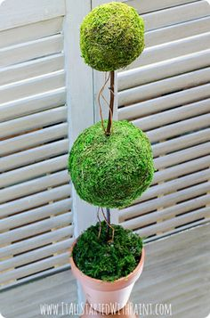 DIY faux topiary inspired by Ballard