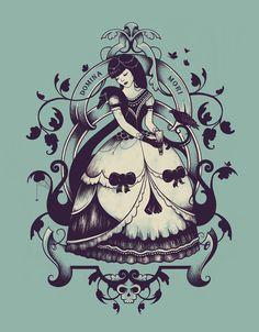 """Mrs. Death  by Enkel Dika    ART PRINT / MINI (8"""" X 10"""")  $16.00"""