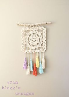 Emmy Makes: Dreaming of Granny, Granny Square Wall Hanging