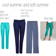 cool and soft summer blues, created by expressingyourtruth on Polyvore