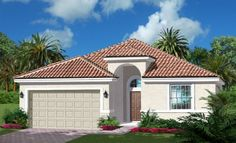 Lennar Homes - Reflection Lakes Alexandria Elevation 'A' - Naples FL