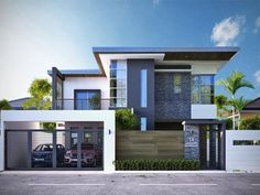 46 The Best House Plan Minimalist Ideas That You Can Make Inspiration - Home-dsgn Best House Plans, Modern House Plans, Modern Houses, Modern Architecture House, Architecture Design, Modern Bungalow Exterior, Compound Wall Design, Bungalow Haus Design, House Front Design
