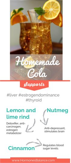 This recipe uses Essential Oils and it tastes like the real thing without all the crap. #homemadecola