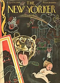 Circus. New Yorker Magazine, April 10, 1948 (Rea Irvin)