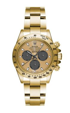 Matte Gold Daytona With Grey And Gold Dial by Bamford for Preorder on Moda Operandi