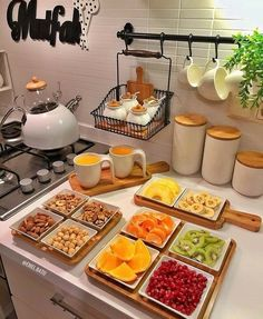 Reusable Jar Bags The perfect Breakfast Cooking Recipes, Healthy Recipes, Healthy Snacks, Food Platters, Food Decoration, Perfect Breakfast, Cute Breakfast Ideas, Romantic Breakfast, Turkish Breakfast