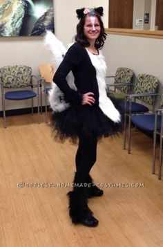 Cool Homemade Skunk Costume  sc 1 st  Pinterest & Skunk Halloween Costume | Halloween Ideas: Make up and more ...