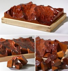Hand Carved Mahogany Topographic Puzzle -- really cool but really expensive at $445!