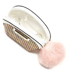 Beige weave mini purse - purses - bags / purses - women
