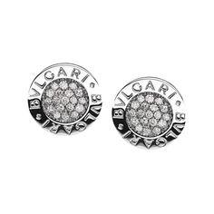 Bulgari Bvlgari-Bvlgari 18k White Gold & Diamond Earrings