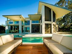 Waterfront Home in Queensland, Australia. Gorgeous inside....go on in and take a look.