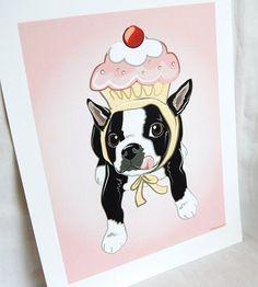 cupcake boston terrier