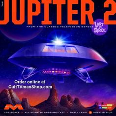 Moebius Lost in Space Jupiter 2 Science Fiction Plastic Model Kit Plastic Model Kits, Plastic Models, Jupiter 2, Model Kits For Adults, Sci Fi Models, Hobby Trains, Picture Sharing, Lost In Space, Space Tv