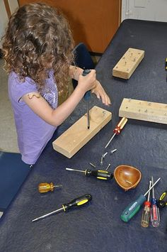 practical life, fine motor, probably best to supervise screwdrivers Motor Skills Activities, Fine Motor Skills, Preschool Activities, Dementia Activities, Physical Activities, Finger Gym, Funky Fingers, Woodworking For Kids, Woodworking Basics