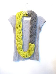 Hey, I found this really awesome Etsy listing at http://www.etsy.com/listing/111038920/the-twist-circle-scarf-in-neon-green