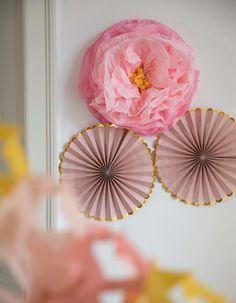 Decorative 3D flower | Paper | 45 cm | Søstrene Grene Babyshower, Paper Flowers, Kids Room, Centerpieces, Balloons, Birthday, Cake, Party, 1 44