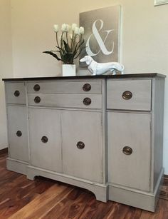 Dining Room Buffet Sideboard Entertainment Stand Bathroom Vanity Painted Furniture TV Storage Ideas Entry Piece