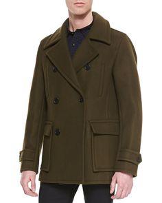 Vince Wool-Blend Pea Coat