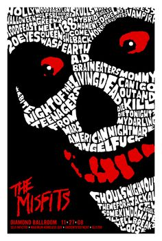 GigPosters.com - Misfits, The - Self Inflicted - Maximum Homeless Guy - Unidentified Meat - Glister