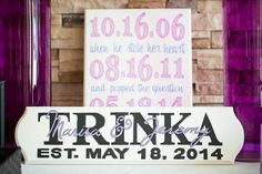 Wedding Sign Hand-Painted by Bride | Photo By Kaitlin Noel Photography