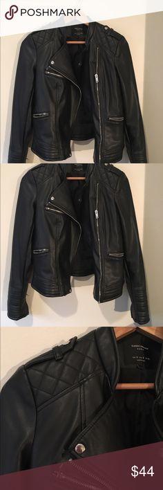 Sale 💥 Zara Biker Jacket (black) Size small. Used with care. Zara Jackets & Coats