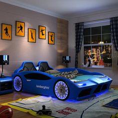 Toddler Car Bed, Kids Car Bed, Kids Beds For Boys, Boys Car Bedroom, Kids Bedroom Furniture, Lego Bedroom, Boy Bedrooms, Minecraft Bedroom, Furniture Sets