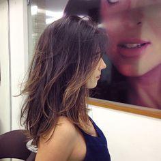 Novo corte de cabelo médio para @cpscamilla Que gata!! Porque mudar faz bem. #hair #newhair #haircut #beauty #cabelo #cortemedio