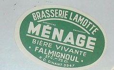 Brasserie Lamotte Falmignoul r.c.dinant 3947 voir photo  mise en vente 1 fois