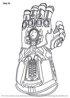 coloring pages - Learn How to Draw The Infinity Gauntlet from Avengers Infinity War (Avengers Infinity War) Step by Step Drawing Tutorials Marvel Avengers, Marvel Thanos, Logo Avengers, Marvel Art, Marvel Logo, Truck Coloring Pages, Cat Coloring Page, Colouring Pages, Printable Coloring Pages