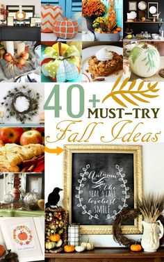 40+ Must-Try Fall Ideas: Recipes, Crafts, Decorating Ideas, Printables and more! #fall