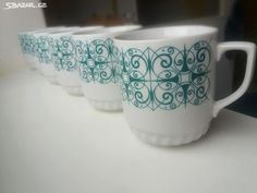retro hrnky Epiag - Křivoklát, Rakovník - Sbazar.cz Mugs, Retro, Tableware, Dinnerware, Cups, Mug, Dishes, Place Settings, Porcelain