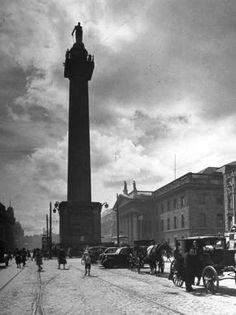 size: Photographic Print: View of Nelson's Pillar in Dublin by Hans Wild : Travel Old Pictures, Old Photos, Vintage Photos, Elderly Activities, Photo Engraving, Ireland Homes, Dublin City, Beach Landscape, Cover Pics