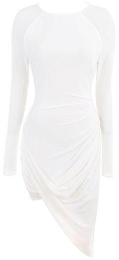 Ivory Drape Jersey Dress  -  Amara   -  http://www.polyvore.com/amara_ivory_drape_jersey_dress/thing?id=100206681   -  http://www.houseofcb.com/amara-ivory-drape-jersey-dress-en.html