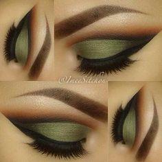 maquillaje verde militar