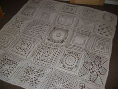 "12"" squares afghan - patterns for each one!"