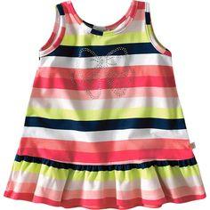 Vestido Bebê Feminino Listrado de Verão - Brandili :: 764 Kids | Roupa bebê e infantil