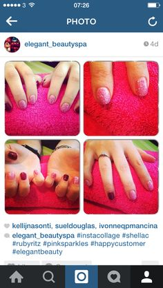Ruby ritz and a glitter pink shellac ready for Christmas ❤️