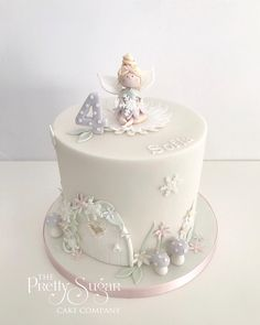 We are a cake company based in Ripponden, West Yorkshire who specialise in bespoke wedding and celebration cakes. Garden Birthday Cake, Baby Girl Birthday Theme, Fairy Birthday Party, Birthday Ideas, Fairy Garden Cake, Garden Cakes, Fairy Cakes, Wedding Cake Designs, Wedding Cakes