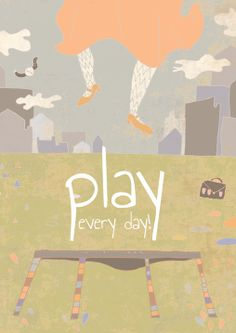 Play every day  Positive psychology series by schalle on Etsy, $25.00