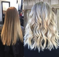 Before and after, full foil highlights  Hair by: Kaitlin Beasley at Orbit Salon; Birmingham, AL