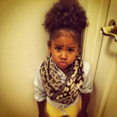 {Grow Lust Worthy Hair FASTER Naturally}>>> www.HairTriggerr.com <<<        Some little cutie's not too happy in her afro puff!