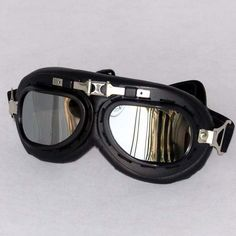 vintage pilot biker goggle
