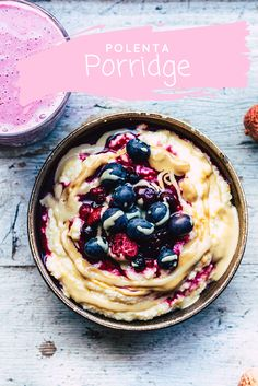 Polenta Porridge. It`s time for a warm and nourishing breakfast. Warm my belly and my soul. PORRIDGE! and Polenta Porridge is my new fav.
