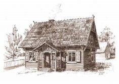 Dom drewniany Krutynia